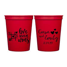 Personalized items ship separately and require 5 business days of processing time. Love Always Wins Happy Valentine S Day Personalized Stadium Plastic Cups Valentine S Stadium Cups Valentine S Day Favor Cup By Pink Poppy Party Shoppe Catch My Party