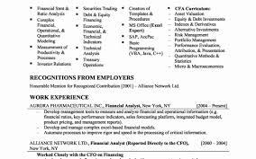 Financial Specialist Sample Resume Fresh Eg Resume Resume Sample