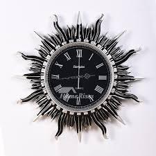 black and white art deco wall clock