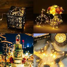 Battery Life Led Christmas Lights Details About Led String Lights Remote Timer 33ft Fairy Lamps Battery Operated For Home Xmas