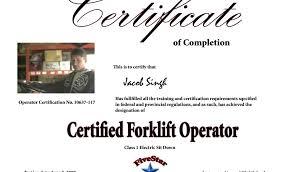 Forklift Certification Template Automotoread Info