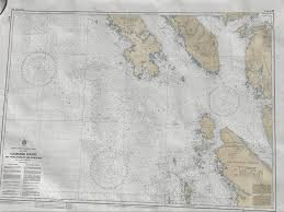 Vintage Nautical Charts Vintage Nautical Chart Coastal Navigation Maritime British Columbia Caamano Sound