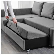 Friheten Corner Sofa Bed With Storage Skiftebo Dark Grey