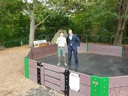 eagle scout helps build new gaga pit at ball plans construction