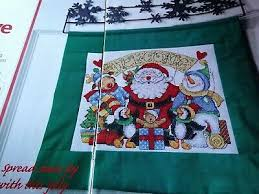 Christmas Chart Images Cross Stitch Chart Christmas Welcome Santa Characters Chart