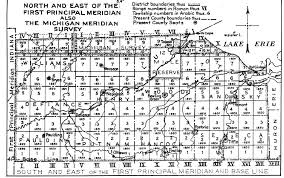 the usgenweb archives digital map library ohio state maps Monroe County Ohio Road Map n & e of the first principal road map of monroe county ohio