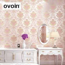 Pink And White Wallpaper For A Bedroom Pastoral Pink Floral Wallpaper Girl Room Promotion Shop For