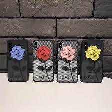 <b>New</b> Rose For Iphone 66S 78 78Plus X/Xs Scrub Hard Shell <b>Tpu</b> All ...