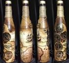 Декор бутылки.декупаж