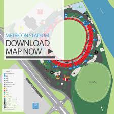 Suns Stadium Seating Chart Stadium Precinct Map Metricon Stadium