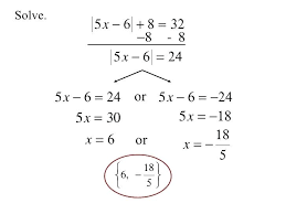 alegbra equations solving an absolute value equation college algebra equations examples