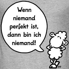 Sheepworld T Shirt Shop Männer Slim Fit Wenn Niemand Perfekt Ist