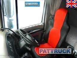 truck eco leather seat covers fit daf xf 105 cf 85 pair of black and