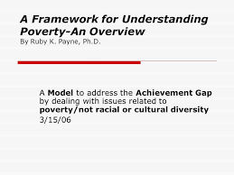 A Framework For Understanding Poverty An Overview By Ruby K