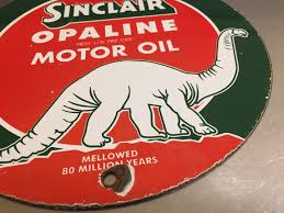 sinclair opaline motor oil porcelain sign pump plate lubester gas gasoline 1852134222