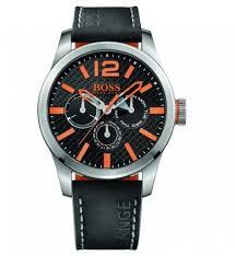 boss orange watches mens black dial paris leather gay times boss orange watches mens black dial paris leather strap watch