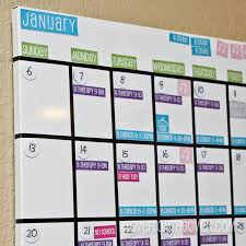 monthly wall calendar dry erase board family magnetic white board calendar with free printable labels by