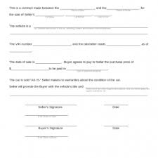 Used Car Sale Agreement Template - Beni.algebra-Inc.co