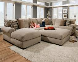 Oversized Living Room Furniture Sets Tan Couch Set With Ottoman Bacarat Taupe 3 Piece Sectional Sofa