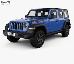 jeep wrangler unlimited rubicon 4 door 2018 3d model
