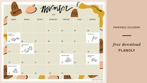 November Through November Calendars November 2017 Content Calendar Planoly