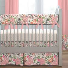 c pink tropic fl crib bedding