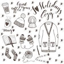冬のファッション服アイコンのセット ストックベクター Photovolga