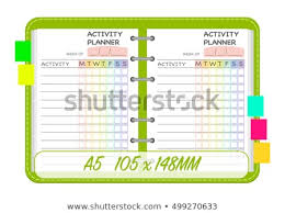 To Do List Charts Weekly Activities Planner Template Organization Chart Stock Vector