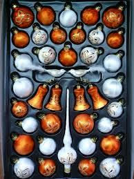 Christbaumschmuck Sortimentskasten Eislack Weiß Orange 39 Tlg