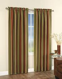 com chf you faux silk stripe lined curtain panel red 42 inch x 84 inch home kitchen