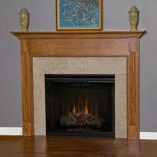 wood fireplace mantel appalachian view detailed image