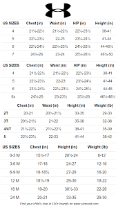 Under Armour Clothing Size Guide