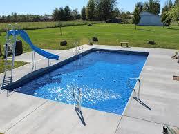 rectangular inground pool designs. Inground Pool Designs Awesome Exterior Rectangle Swimming With Blue High Water Slides Rectangular