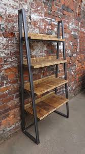 industrial wood furniture. Brilliant Industrial Industrial Chic Reclaimed Custom Trapezium Bookcase Media Inside Wood And  Metal Furniture Decor 17 Intended