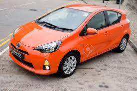 Toyota Prius C Hybrid 2012. The Smallest Hybrid In Toyota. Stock ...