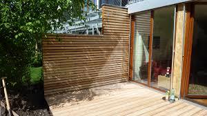 Terrasse Sichtschutz Holz Terrasse Bauen Sichtschutz F R Selber
