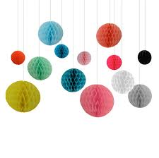 Paper Hanging Balls Decoration Hanging Decorations Paper Honeycomb Bunting Balls Bedrooms and 2