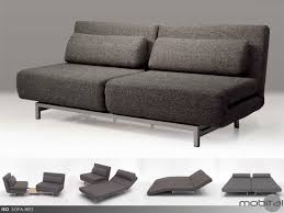 Double Sofa Bed Mobital Iso Charcoal Tweed Double Sofa Bed With 2 Single Swivel