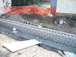 nice retention wall blocks walls cinder block retaining with the installation diy installing pavestone stylish how