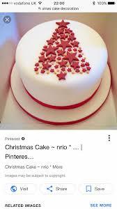 Christmas Cake Design Pinterest Xmas Cake Christmas Cake Decorations Christmas Cupcakes