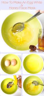 how to make an egg white honey face mask