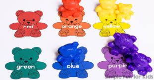 Rainbow Bear Colors Printable Simple Fun For Kids