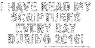 Scripture Reading Charts Lds365 Resources From The Church