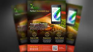 Flyer Design App Mobile App Promotional Flyer Design Photoshop Tutorial