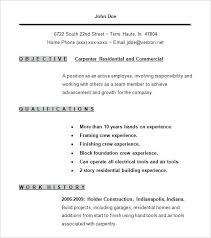 Carpenter Resume Templates Apprentice Carpenter Resume Carpenter ...