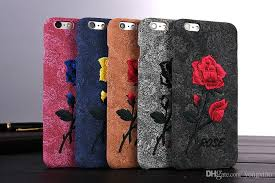 samsung galaxy s6 phone cases for girls. cool 3d rose embroidery flower case for iphone 6 6s 7 plus samsung galaxy s6 edge note 5 soft pp back cover girl lady phone covers make your own cases girls s