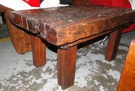 solid genuine sleeper wood coffee table r1800