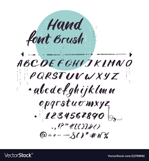 Latin Alphabet Cursive Font Handwritten