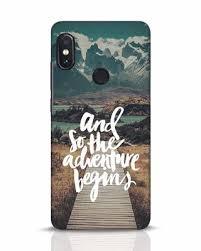 adventure begins xiaomi redmi note 5 pro mobile cover