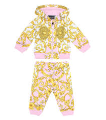 Young Versace Size Chart Baby Printed Cotton Tracksuit